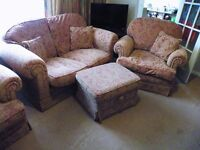 Designer handmade DURESTA WALDORF 4 piece bargain sofa/ armchairs/ suite