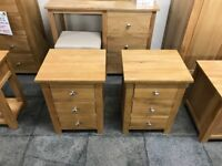 NEW Oak 9 piece Bedroom Set (10 sets only) Was £2495, Now £1495