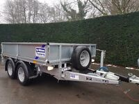 IFOR WILLIAMS TRAILER LM 85 FLAT BED DROP SIDE IVOR PLANT GARDEN CAR MOWER FARM