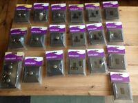 Brand New Varilight Graphite 21 Dimmer Switches & Sockets