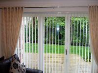 """VERTICAL BLIND FOR PATIO WINDOW - WINBOURNE ICE - WHITE - 92"""" Wide x 80"""" long"""