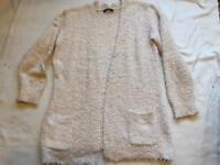 Atmosphere ladies open cardigan beige size 14 used £3