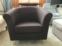 "Small brown John Lewis armchair in ""as new"" condition"