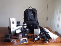 Canon Camera Bundle - 7D + 4 Lenses and a Flashgun