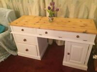 Solid Pine Shabby Chic Computer Desk