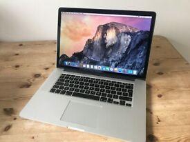 Macbook Pro 15 inch Retina mid 2014 laptop 512gb SSD 16gb ram Intel Quad Core i7 processor