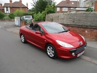 2008 Peugeot 307cc convertible hard top, FSH, 2 Keys, LONG MOT not diesel auto ford vaux bmw