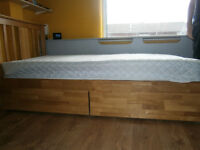 Single bed with slide out drawers