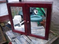 BATHROOM CABINET WITH MIRROR AS NEW CAN DELIVER
