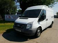 FORD TRANSIT VAN LWB HIGH TOP. NO VAT. FREE WARRANTY AND FINANCE AVAILABLE