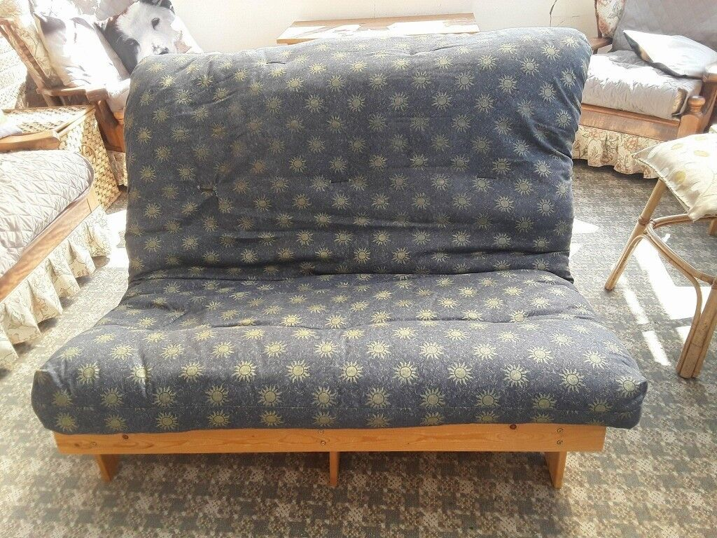 Double 4ft Futon 2 Seater Wooden Frame Sofa Bed Mattress In Bury St Edmunds Suffolk Gumtree