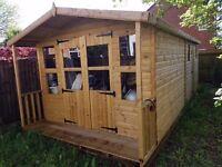 Garden Shed/Workshop and Summerhouse with Veranda