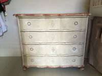Antique vintage Victorian painted chest of drawers