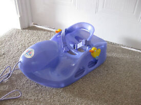 BABY BORN PULL ALONG SLEDGE - Zapf Creation (on wheels) - Great Price - RARE Buy with boat for £22!