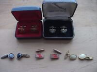 FIVE PAIRS OF VINTAGE CUFFLINKS