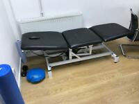 Mains Powered Massage / Treatment Bed (adjustable height)