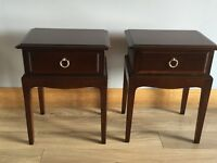 Stag Minstrel Bedside Table x 2