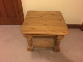 HIGH QUALITY side table BELFAST NEWCASTLE can meet deliver oak pine type finish bedside occasional