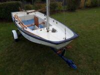 Fiberglass Mirror boat sailing dinghy
