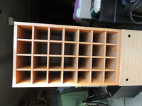Wine rack - 28 bottle - cherry wood colour veneer x4