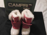 CHILDS PINK/WHITE CAMPRI SNOW BOOTS NEW IN BOX size C4