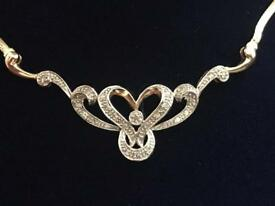 Beautiful Gold and diamond necklace