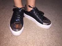River island trainers size 4uk