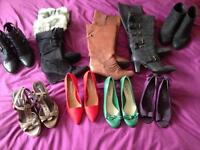 Job lot of size 4 boots and shoes