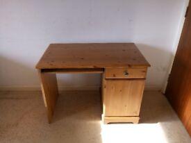 Pine Dressing Table Makeup Desk with 1 Drawers 1 Door
