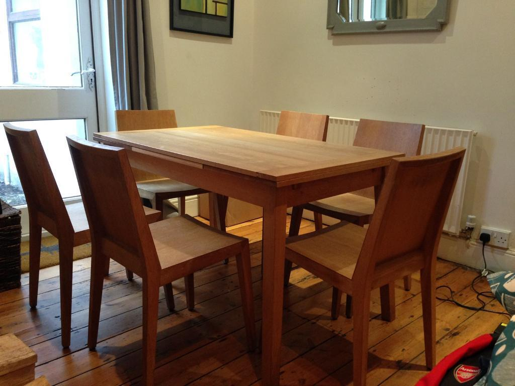 Habitat Ruskin Solid Oak Extendable Dining Table 6 Chairs