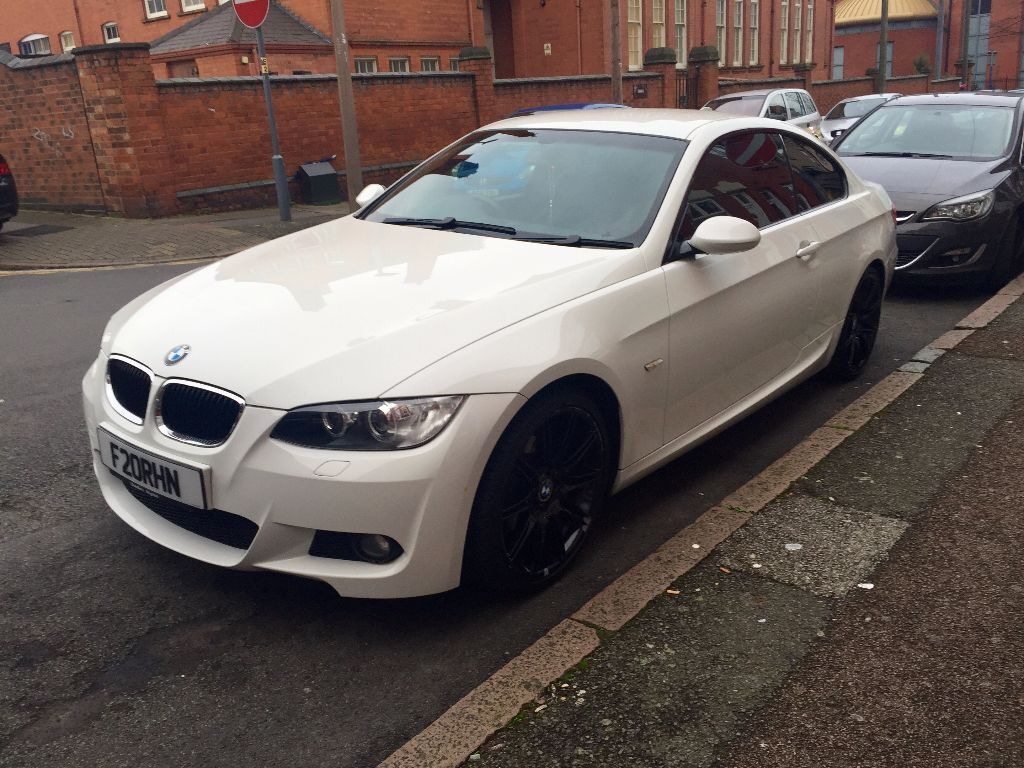 bmw 3 series coupe 320i m sport white in leicester leicestershire gumtree. Black Bedroom Furniture Sets. Home Design Ideas