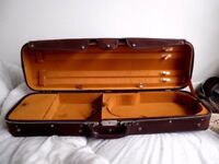 Pair 2 X Roland Baumgartner Switzerland Violin Size 4/4 Canvas Covered Wood Hard Cases x 2