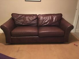 Large 3 seater leather sofa need gone asap