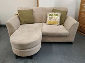 DFS Chaise Longue Two Seater Sofa - delivery