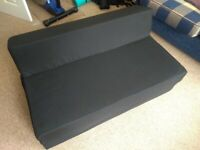 Argos Home (Kaikoo) Small Double Fabric Chair Bed - Jet Black