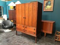 SAFE DELIVERY AVAILABLE- Rosewood Danish Drinks / Cocktail Cabinet. Bernhard Pedersen. Mid Century