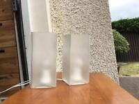 Pair of Cuboidal Bedside Living Room Lamps Lights ex IKEA