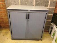 Steelcase Strafor Grey Metal Cabinet (100 x 105cm)