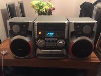 Phillips hifi stereo radio, 3xCD. X2Cassette etc