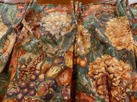 Crowsons Adagio print Full length curtains -two pairs