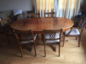 Antique 12 Seater Extending Dining Table with Claw feet