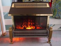 Glen Optiglow electric fire heater - fully working order. 3 elements and thermostatic convector.
