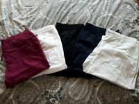 5 pairs Evans cropped trousers size 22