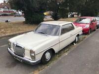 MERCEDES BENZ 280 CE AUTOMATIC 2 DR/ CLASSIC CAR 1971 MODEL/ 85000 GENUINE MILES / MOT TILL FEB 2019