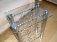 Glass table wine holder/storage/rack (Mint condition)