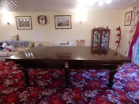 SNOOKER DINING TABLE. 3/4 size.