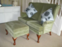 Parker Knoll 2 seater settee + 1 footstool in family from new