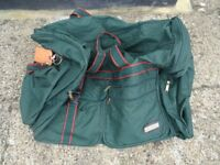 Large green holdall