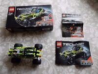 Lego Technic 42027 Pull Back Desert Racer With Box & Instructions