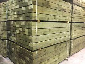 Pack of 50 sleepers pressure treated green